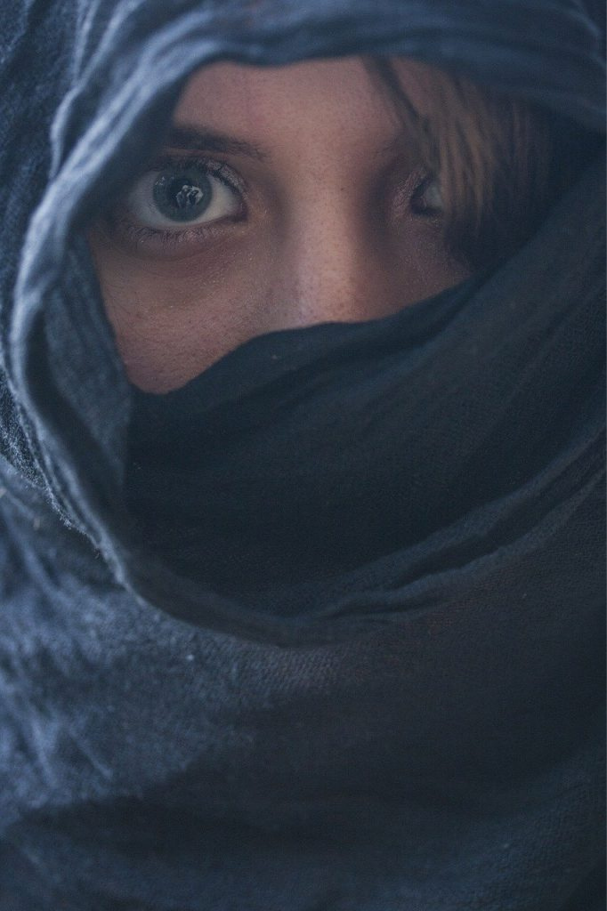 woman with cover