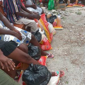 aid distributed in Haiti