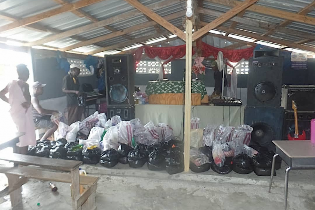 aid distribution in church